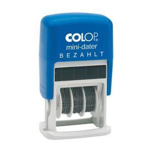 Colop Mini Dater S 160/L Stempel mit Datum + Lagertext Bezahlt