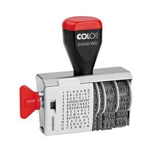 Colop Wortbandstempel 04000/WD mit Datum und 12 Texten