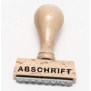 """Stempel """"Abschrift"""""""