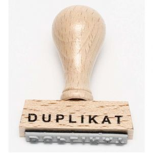 "Stempel ""Duplikat"""