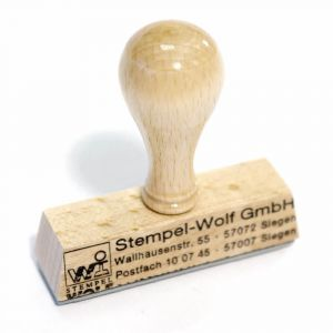 Wooden Stamp - 50 mm - 3 Lines