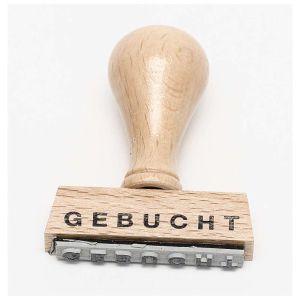 "Stempel ""Gebucht"""