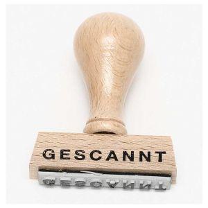 """Stempel """"Gescannt"""""""