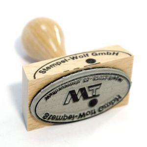 Holzstempel oval - 15 x 10 mm