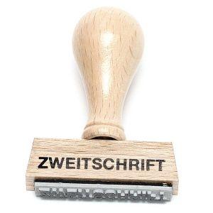 """Stempel """"Zweitschrift"""""""