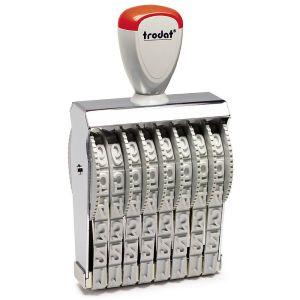 Trodat 15128 Zahlenstempel mit 8 Stellen und 12 mm Schrifthöhe