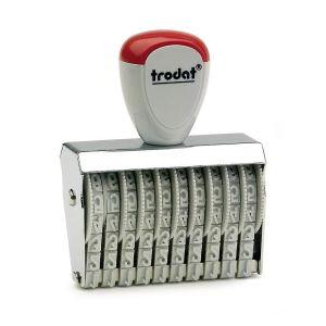 Trodat Ziffernbänderstempel 15410 mit 10 Stellen und 4 mm Ziffernhöhe