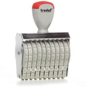 Trodat Classic 15710 Ziffernbänderstempel mit 10 Stellen und 7 mm Ziffernhöhe