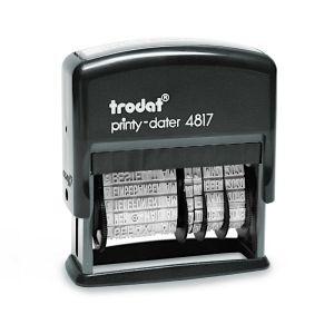 Trodat Printy-Dater 4817 Wortbandstempel mit Datum und 12 Texten